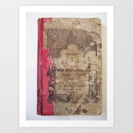 Antique Book 1 | Old Testament Bible Bibliophile Photography Art Print