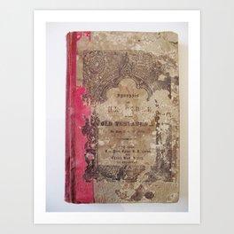 Antique Book 1 | Old Testament Bible Bibliophile Photography Art Print