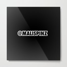 @MaliSpinz Pitch Metal Print