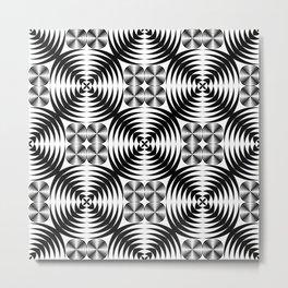 Geometric damask pattern Metal Print