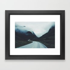 Dark road Framed Art Print