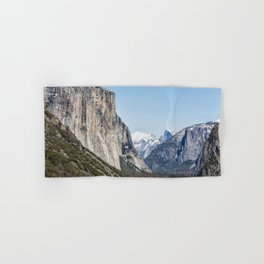 El Capitan, Half Dome and Sentinel Rock from Tunnel View Hand & Bath Towel