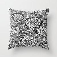 evil eye Throw Pillows featuring Evil Eye by Emily N3ver