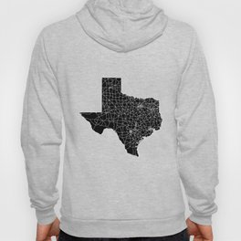 Texas Black Map Hoody