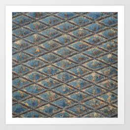 Blue Diamond Metal Art Print