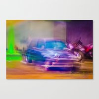 mini cooper Canvas Prints featuring Mini Cooper by SAAN