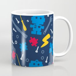 Young Engineer - Blue, Red and Yellow Coffee Mug