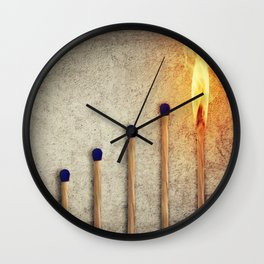match stairsteps concept Wall Clock