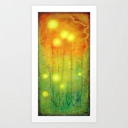 Glowing Lights Art Print