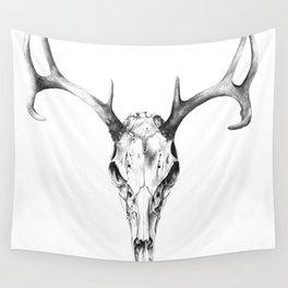 Deer Skull in Pencil Wall Tapestry
