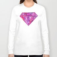 geode Long Sleeve T-shirts featuring Rhodolite by Cat Coquillette