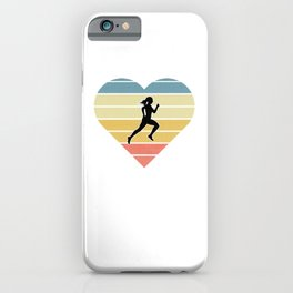 Girls Cross Country Running Gift design iPhone Case