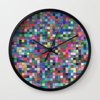 stained glass Wall Clocks featuring stained glass by spinL