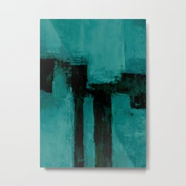 turquoise abstract Metal Print