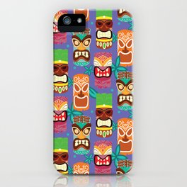Midcentury Modern Tiki - Purple iPhone Case