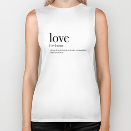 Definition of love Biker Tank