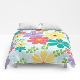 Pastel flowers pattern Comforters