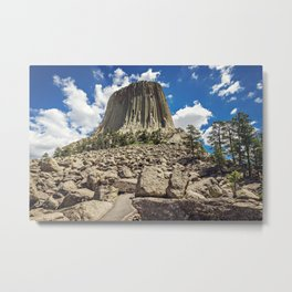Rocky Path to Devils Tower Metal Print