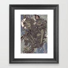 REMEMBER MIND (full moon) Framed Art Print