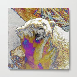 AnimalArt Polar Bear Metal Print