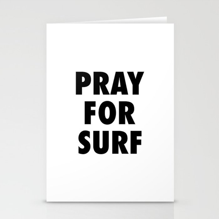 Pray for surf Stationery Cards