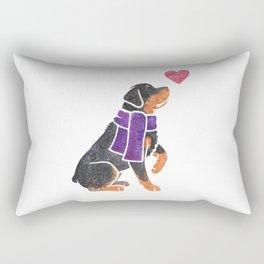 Watercolour Rottweiler Rectangular Pillow