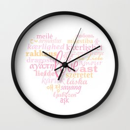 Love in Multi-Language Wall Clock