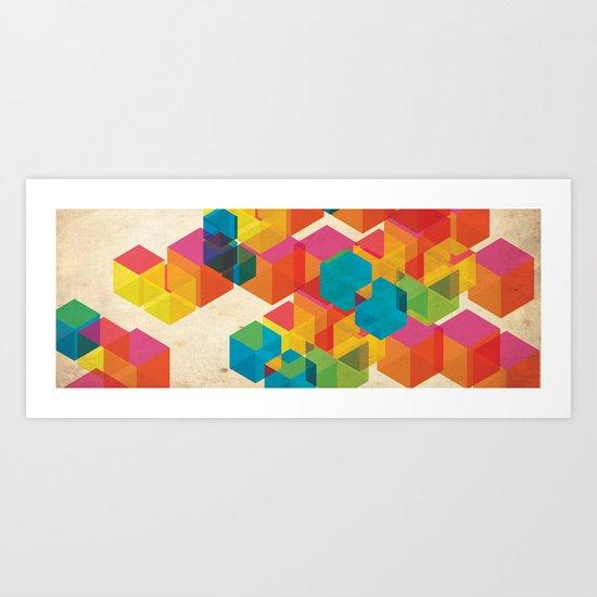 Joe Cox Cube Art Print