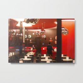 Red café PARIS Metal Print