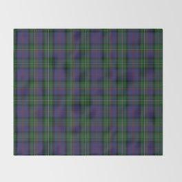 McPhail Tartan with Clan Name Throw Blanket