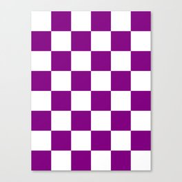 Large Diamonds - White and Purple Violet Canvas Print