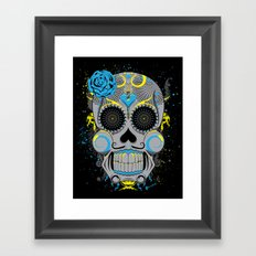 Diabolic Sugar Skull Framed Art Print