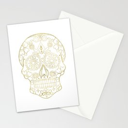 Gold Skull Stationery Cards