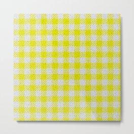 Yellow Buffalo Plaid Metal Print
