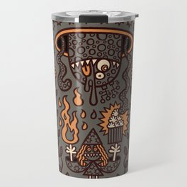 Grand Magus Summons Entity With Dark Popcorn Power Travel Mug