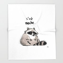 Racoon Throw Blanket