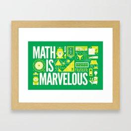 MATH IS ... Framed Art Print