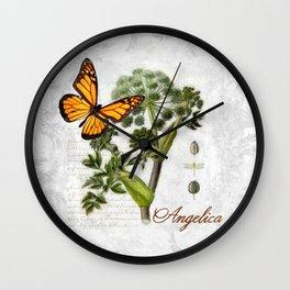 Angelica Herb Botanical Wall Clock