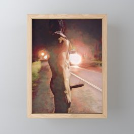 Hitchhiker Framed Mini Art Print