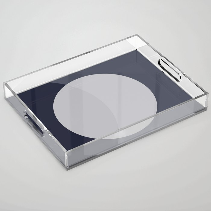 Circle on Navy and Blue Grey Acrylic Tray