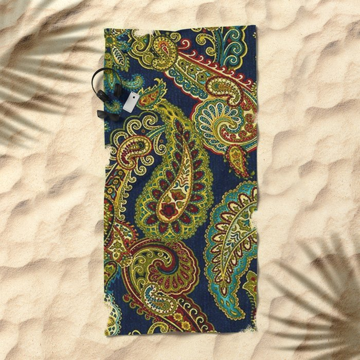 Floral Paisley Pattern 05 Beach Towel