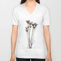 vintage flowers V-neck T-shirts featuring Vintage Flowers by Watsonwho