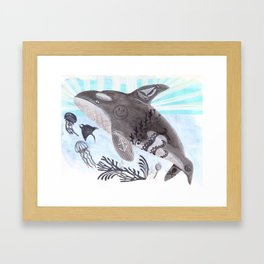 Killer Whale Ishmael Framed Art Print