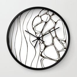 rocky ocean shore Wall Clock
