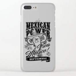 Mexican Power Black Clear iPhone Case