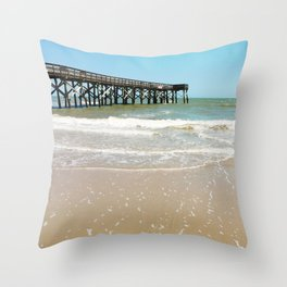 Turquoise Pier Throw Pillow