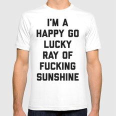 Ray Of Sunshine Funny Quote Mens Fitted Tee X-LARGE White