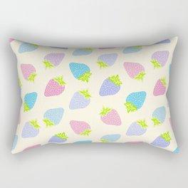 Pastel Strawberries Pattern Rectangular Pillow