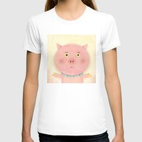 pooh T-shirts featuring Piggy Pooh by Silva Ware by Walter Silva