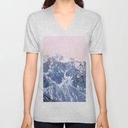 Rose Quarz and Serenity Mountains Unisex V-Neck
